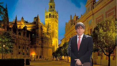 Puigdemont anuncia que traslada la sede de la Generalitat a Sevilla