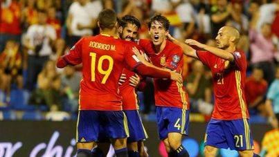 España golea a Albania y se clasifica para el Mundial