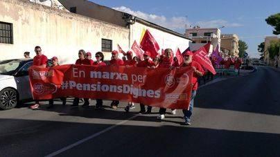 UGT y CCOO reivindican las pensiones justas con una marcha desde el Pont d'Inca hasta Palma