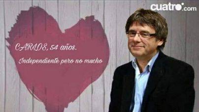 Puigdemont va a First Dates para dialogar con alguien