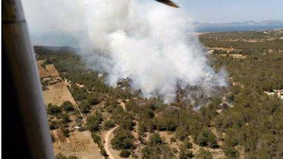 Incendio en Cala Saona (Formentera)