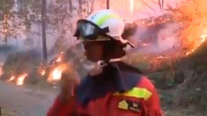 27 incendios siguen activos en Galicia