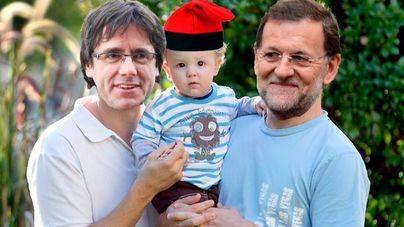 Rajoy y Puigdemont pactan la custodia compartida de Cataluña
