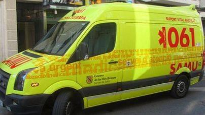 Un ciclista herido grave tras caer en la carretera de s'Illot a Sant Llorenç