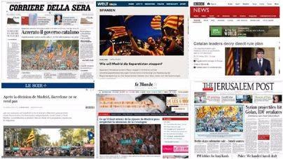 Los medios internacionales se hacen eco de Cataluña en sus portadas