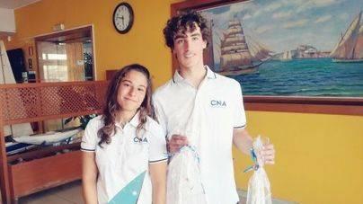 Pep Cazador y Rocío Cárdenas ganan el Illes Balears de Laser Radial