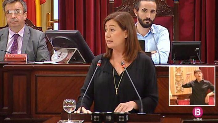 Intervención televisada de la presidenta Armengol el martes