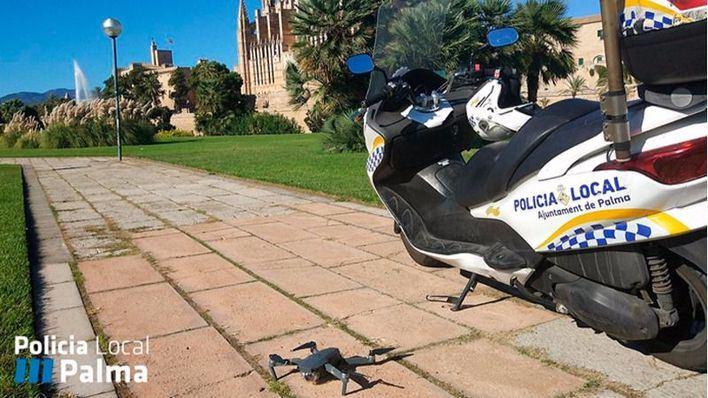 Cazan un dron grabando sobre el Parc de la Mar sin permiso