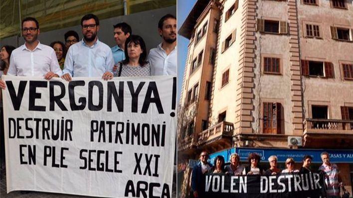 Federació de Veïns critica a PSIB y Més por protestar por Can Bibiloni y dejar ahora que se tire un edificio