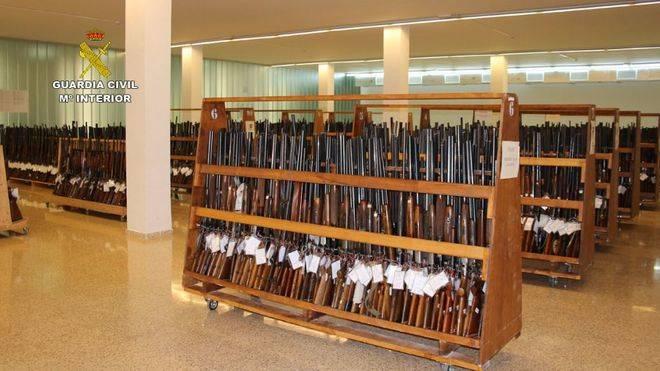 Escopetas, pistolas rifles y carabinas