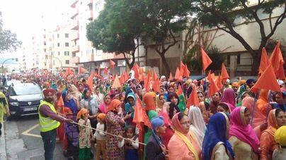 Multitudinaria celebración de la comunidad Sij en Palma