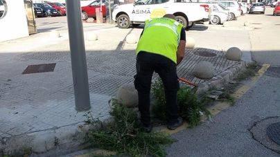 Campaña de Asima para quitar hierbas y mejorar el entorno de los polígonos