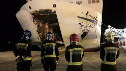 Obligado a atracar en Alcúdia un ferry de la ruta Marsella-Argel por un incendio