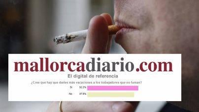 Un 51,4% de los lectores creen que los trabajadores no fumadores deben tener más vacaciones