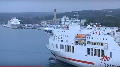 Menorca aislada: cerrados los puertos de Maó y Ciutadella por el temporal