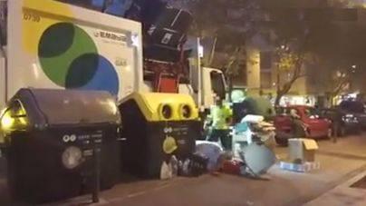 La recogida selectiva de Emaya en Pere Garau, a patadas con la basura
