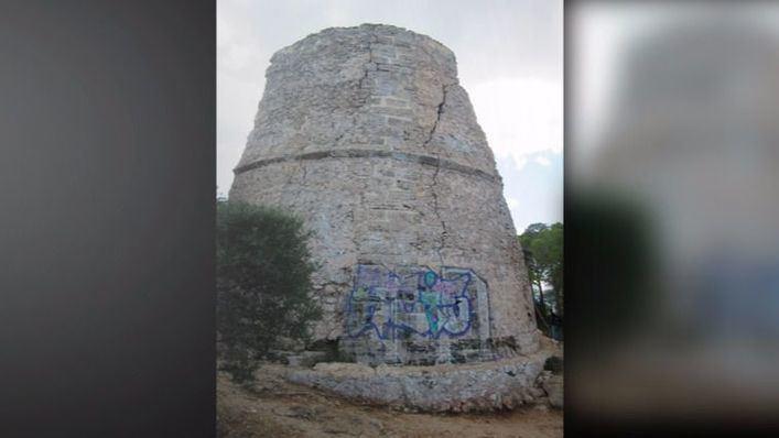 Denuncian abandono y peligro público de la torre de defensa de Capdepera