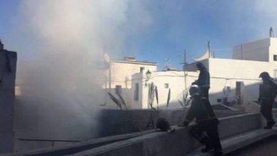 Alarma por un incendio en un solar del barrio de sa Penya de Ibiza