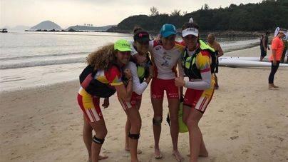 Las palistas españolas rozan el podio en el Mundial Ocean Racing