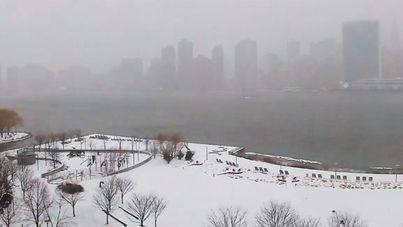 Primera gran nevada del año sobre Nueva York