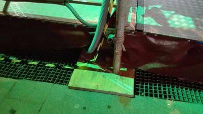 Colocan una atracción de feria sobre las rejillas de ventilación de la estación intermodal de Palma
