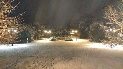 La nieve llega a Mallorca y obliga a cortar carreteras hacia la Serra