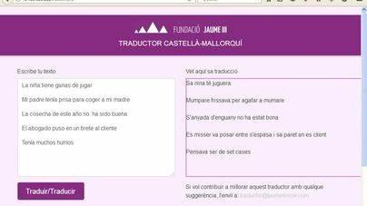Más de 40 mil usuarios usan el traductor de la Fundació Jaume III