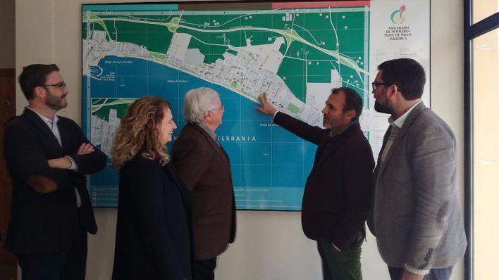 Govern y hoteleros firman inversiones por valor de siete millones para Platja de Palma