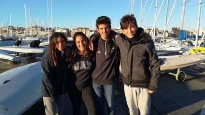 Javier Vilariño, Justo Martínez, Rocío Cárdenas y Marta Lazarán del CN S'Arenal participan en el Campeonato de España para la clase Láser 4.7