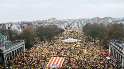 La Policía de Bruselas cifra en 45.000 los asistentes a la marcha independentista