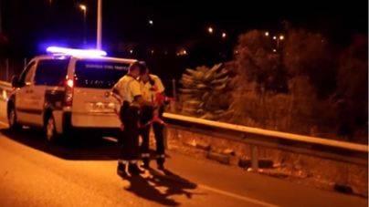 Muere atropellado un hombre cuando cruzaba de noche la autopista de Llevant en Palma