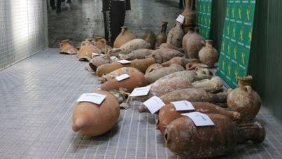 La Guardia Civil incauta 42 piezas arqueológicas robadas de yacimientos submarinos