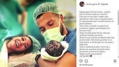 Tamara Gorro y Ezequiel Garay presentan a su hijo Antonio