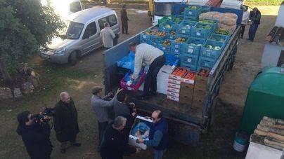Agricultores de Balears destinan cinco toneladas de alimentos al centro de acogida de Can Gazà