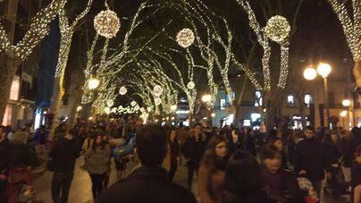 El centro de Palma, blindado para la noche de Fin de Año