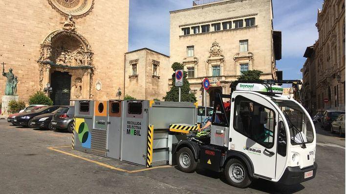 Nuevo sistema de recogida del centro de Palma