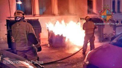 Palma inicia el año con actos vandálicos y quema de contenedores