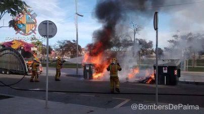 El vandalismo se ceba con la quema de contenedores de Emaya en Palma