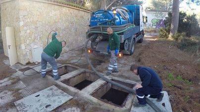 Calvià retira 25 toneladas de toallitas y basura de las estaciones de bombeo de aguas residuales