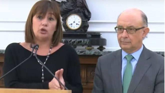"""Armengol pedirá el martes explicaciones a Montoro """"por chantajear"""" a Balears"""