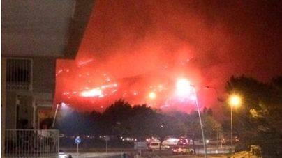 El incendio de Pollença se originó por la rotura de un cable de media tensión