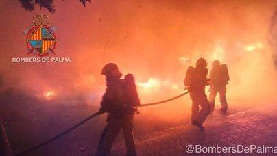 La Policía investiga la oleada de contenedores quemados en Palma