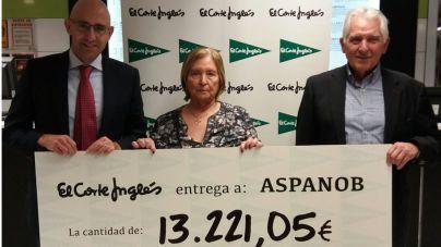 El Corte Inglés da más de 13.000 euros de la Casita de Papá Noel a Aspanob