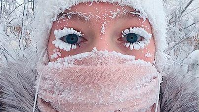 Vivir congelado: Rusia sobrepasa los 65 grados bajo cero