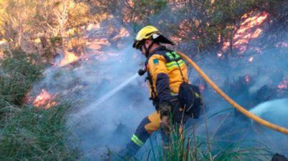 Controlado el incendio declarado en el Puig de Maria en Pollença