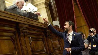 Roger Torrent, presidente del Parlament con el apoyo de JxCat, ERC y CUP