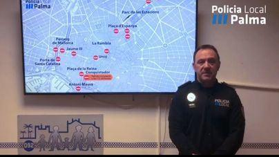 Los cortes de tráfico de Sant Sebastià en Palma, explicados en un minuto