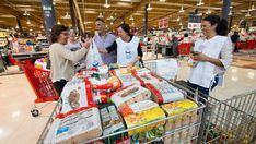 Eroski y sus clientes donan 7.000 toneladas de alimentos en un año