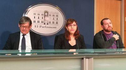 Thomàs (PSIB), Camargo (Podem) y Abril (Més) ante los medios