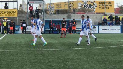 Los balearicos celebran el gol del empate